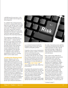 Insurance Investments and Disclosures — How One Business Process Can Reduce Risk and Restore Finance, Page 2, Michael Erlanger, Compliance Matters