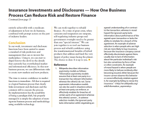 Insurance Investments and Disclosures — How One Business Process Can Reduce Risk and Restore Finance, Page 5, Michael Erlanger, Compliance Matters